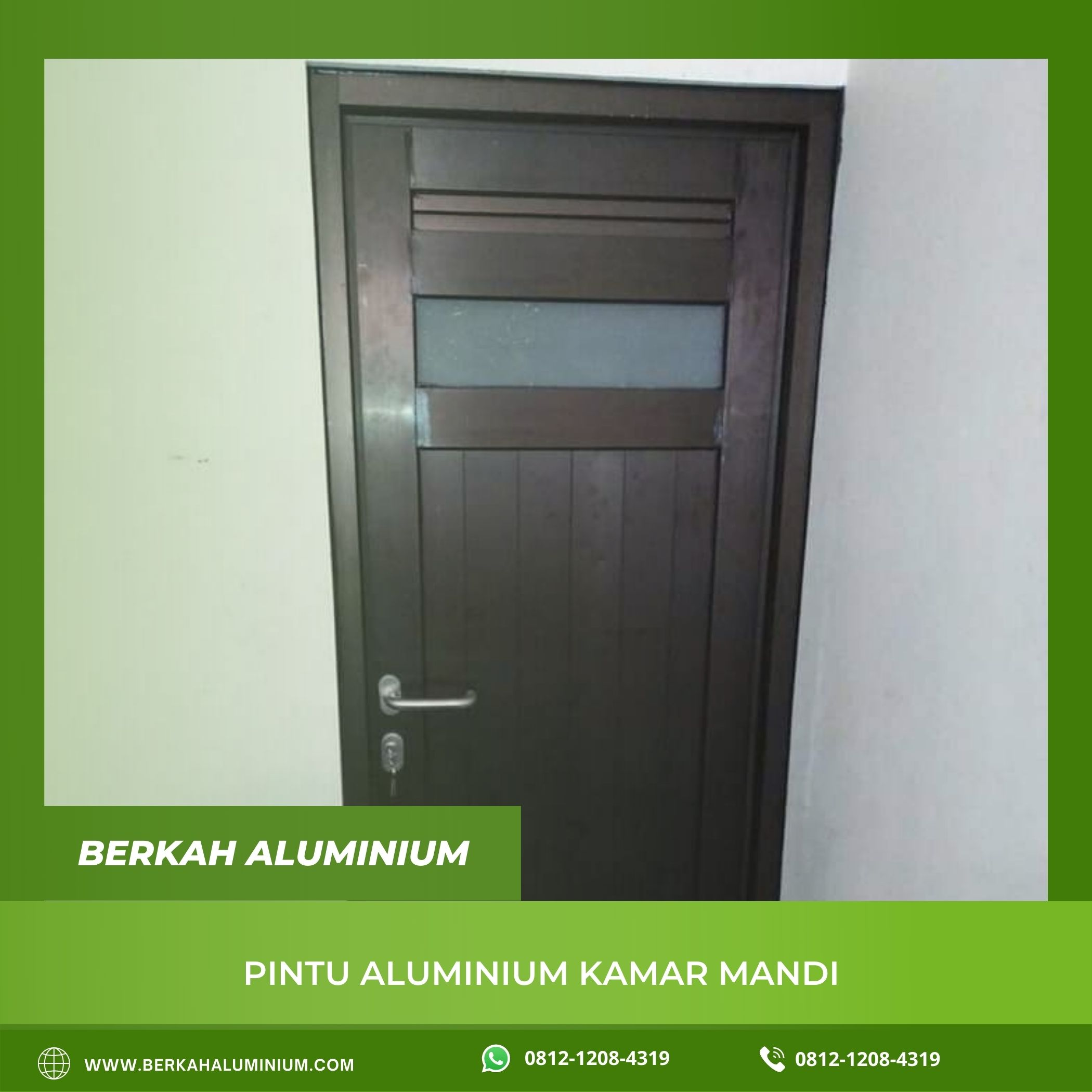 Pintu Aluminium Kamar Mandi